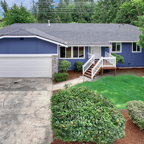 Bothell house exterior after