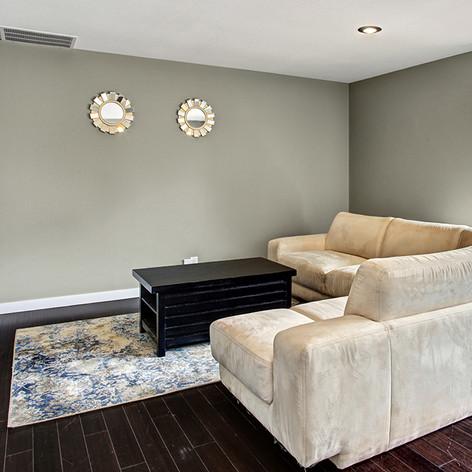 Remodeled family room