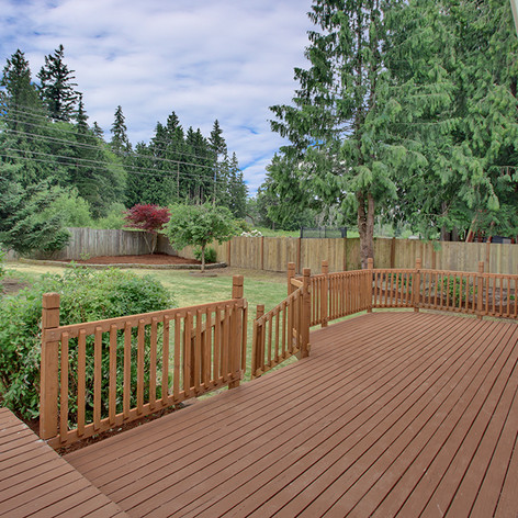 Fixed and painted deck