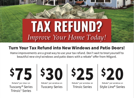 Turn Your Tax Refund into New Windows & Patio Doors!