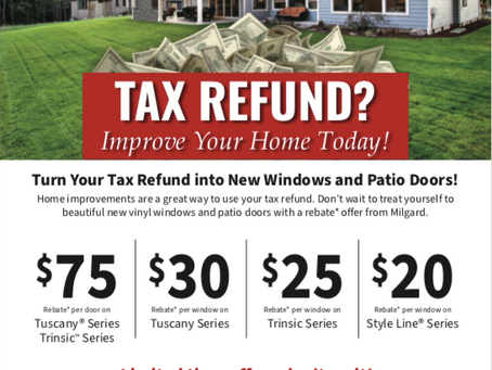 Turn Your Tax Refund into New Windows & Patio Doors!
