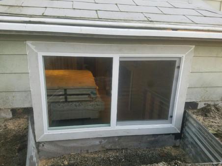 West Seattle egress window for bedroom access