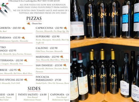 2 delicious pizzas of your choice, 2 sides of your choice and a bottle of wine - £40 Mon-Saturday