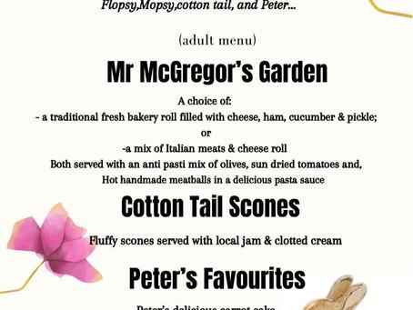 Peter Rabbit Tea Party Half Term (adult & children menu)
