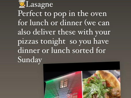 Breaking News...Pizzas...lasagne, parmigiana delivery ❤️🇮🇹 01480 465339 www.diritaspizzadeli.com