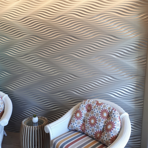 3D feature wall by The Shoosh Group