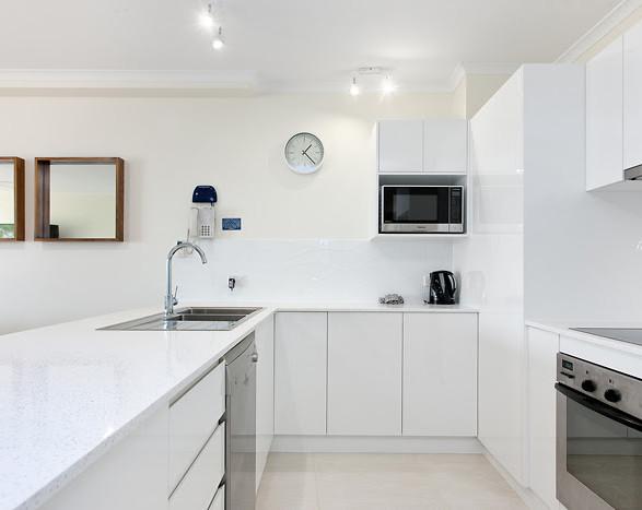Refurbished resort kitchen by The Shoosh Group
