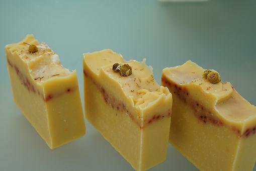 chamomile dream annatto seed cocoa butter coconut oil handmade lemongrass shea butter soap vegan
