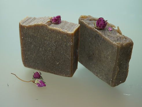 rose chunky handmade soap floral petal bud shea cocoa butter olive organic coconut oil