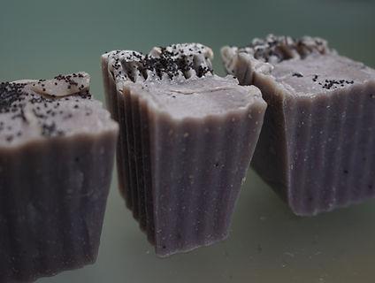 purple lavender handmade vegan soap