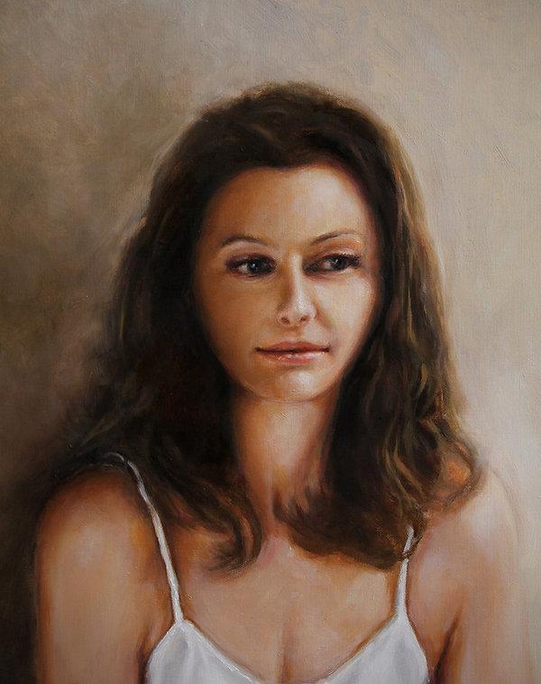 Eve. Oil Portrait
