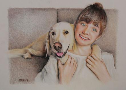 """Sarah & Honey // Pastel 24x18"""""""