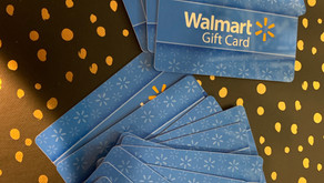 Thank you for the gift cards!