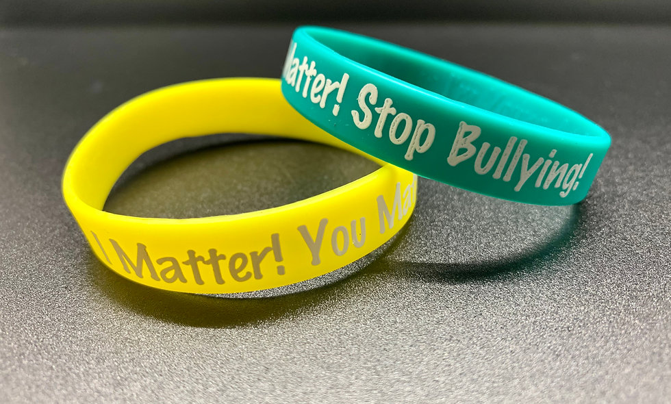2 - Pack Wristbands I Matter! You Matter! Stop Bullying!®