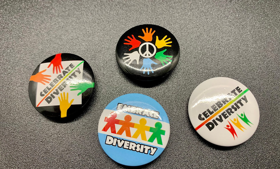 Celebrate Diversity Button 4 - Pack