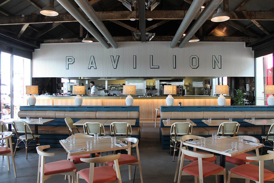 Wynyard Pavilion, Restaurant fit out, interior fit out, custom furniture