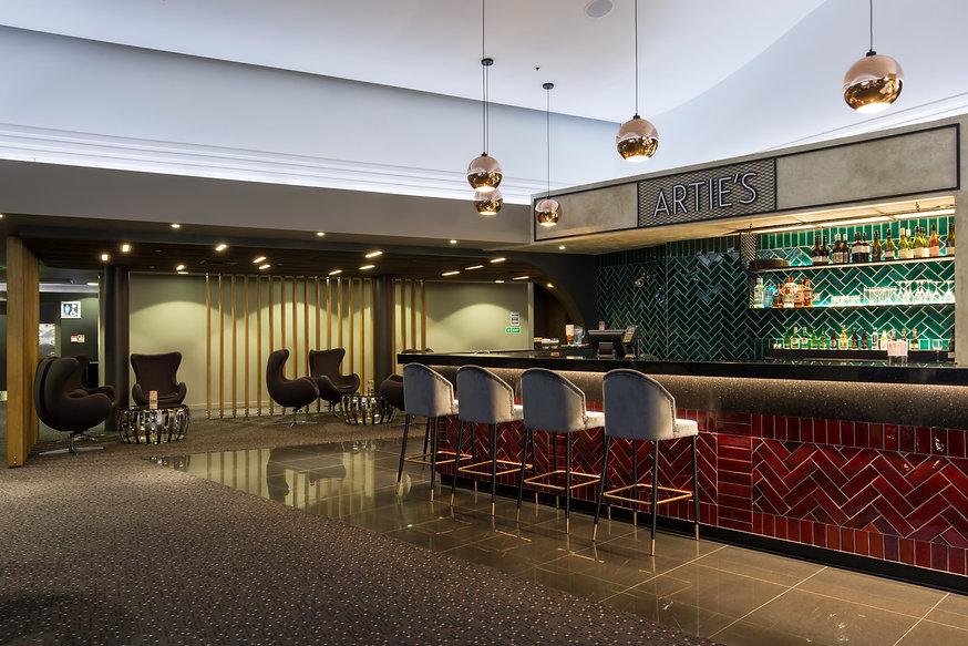 Hoyts Wairau Cinema foyer, Artie's Bar, interior fit out
