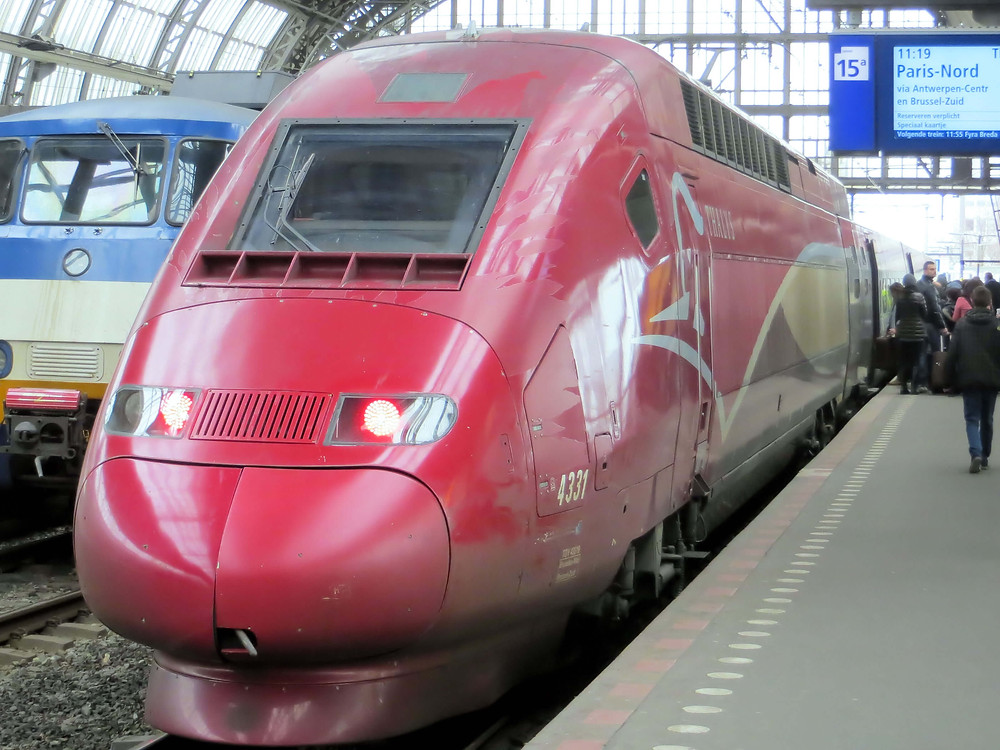 Thalys High Speed Train, Amsterdam
