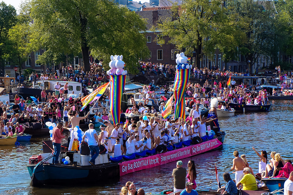 Pride Amsterdam's Gay Parade on the Amsterdam canals