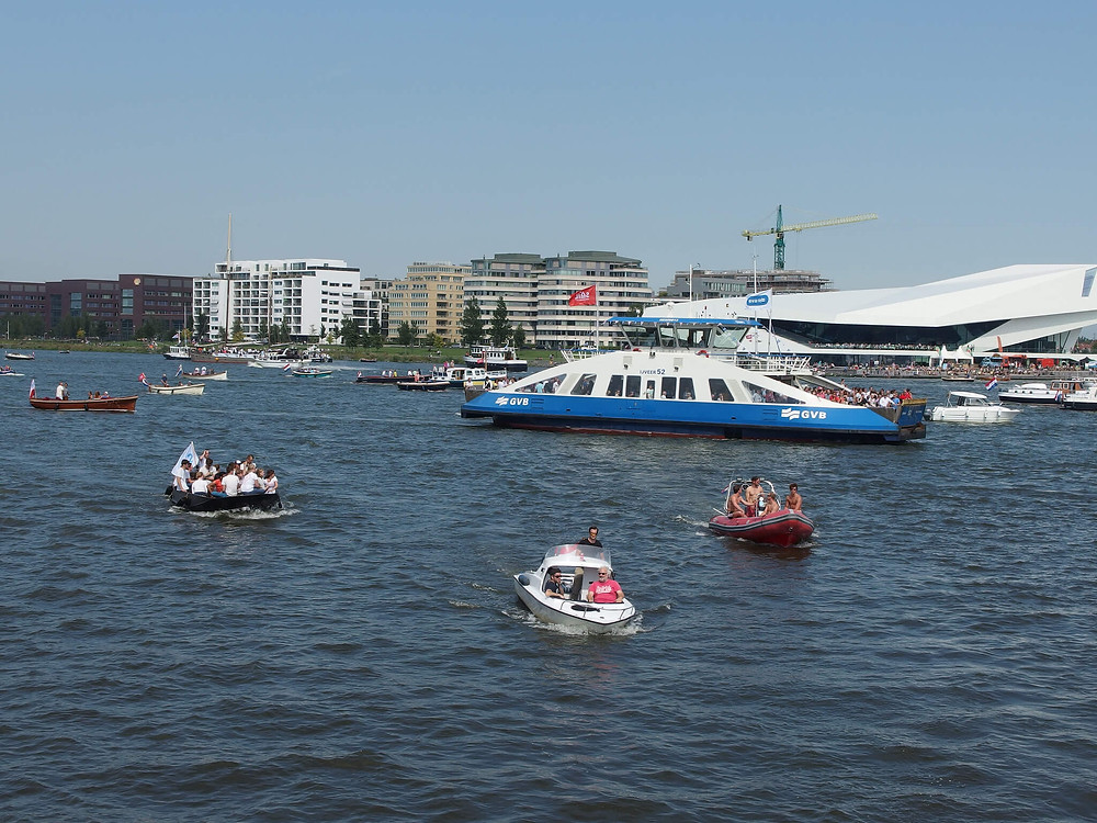 Summer is boating season in Amsterdam