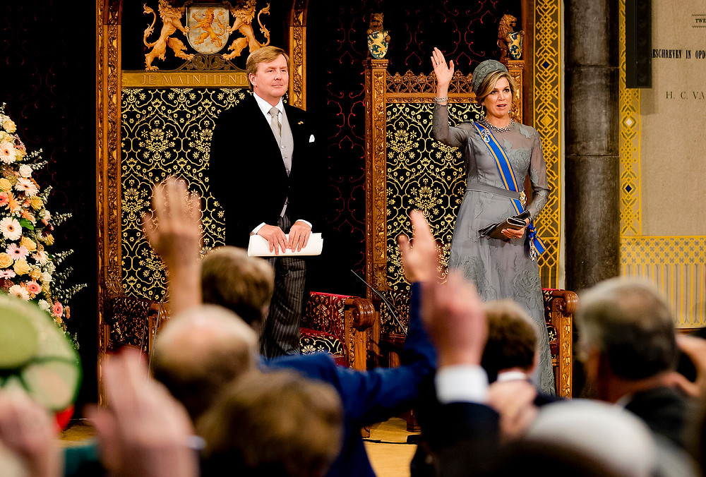 King Willem- Alexander reading the Throne Speech in the Ridderzaal