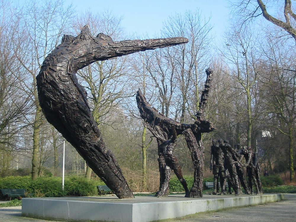 Slavery Memorial in Oosterpark Amsterdam