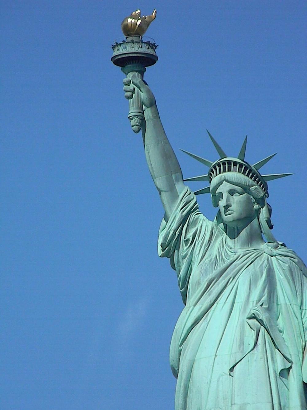 Statue of Liberty on Liberty Island, New York
