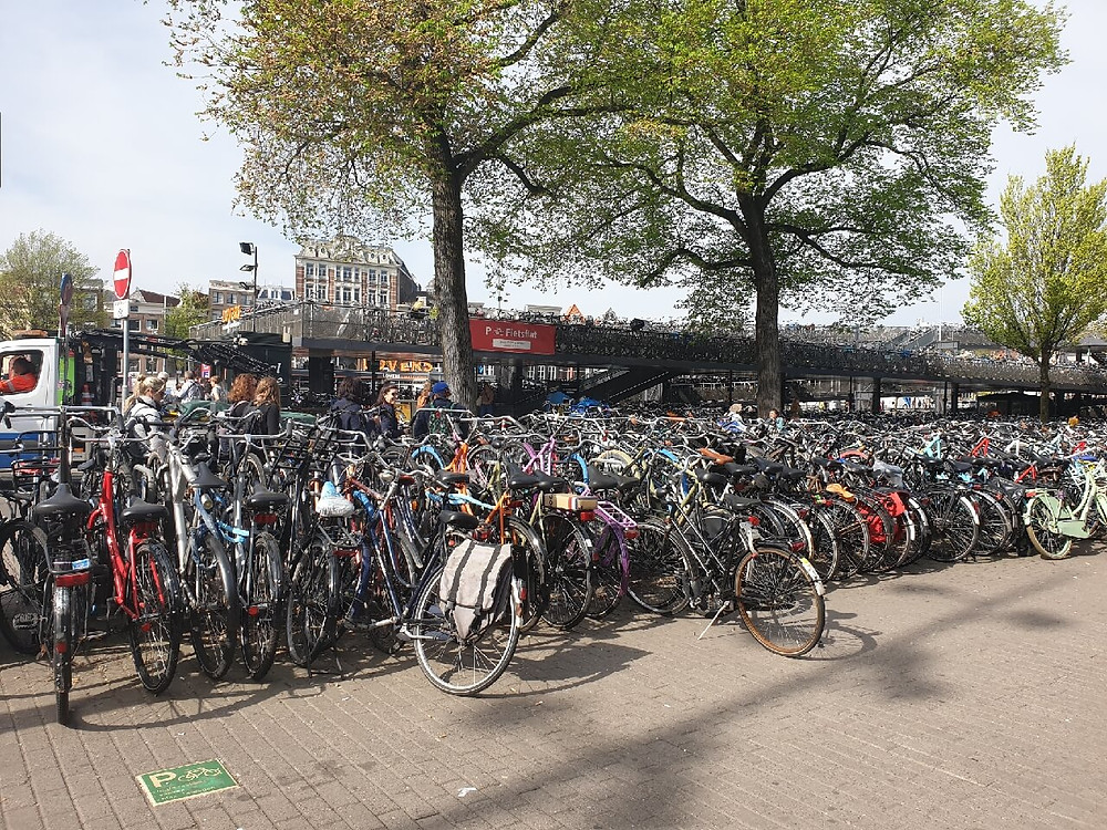 Bicycle Parking in the Amsterdam Central Station vicinity
