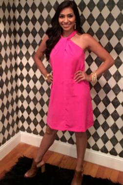 Pink Braided Dress