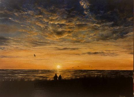 Couple On Sunset Beach