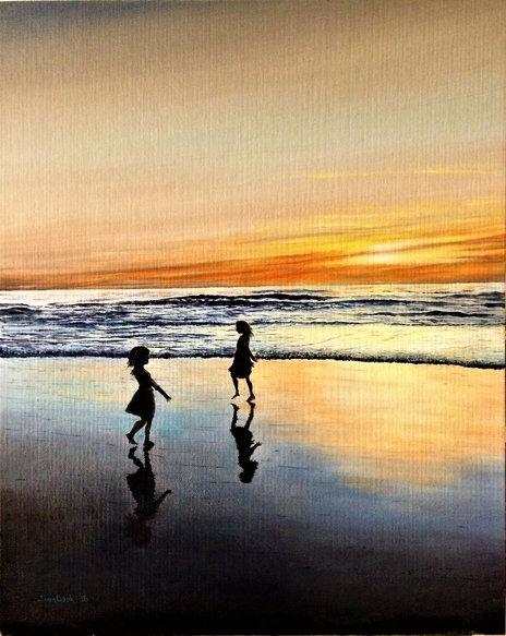 Girls Dance on La Jolla Beach