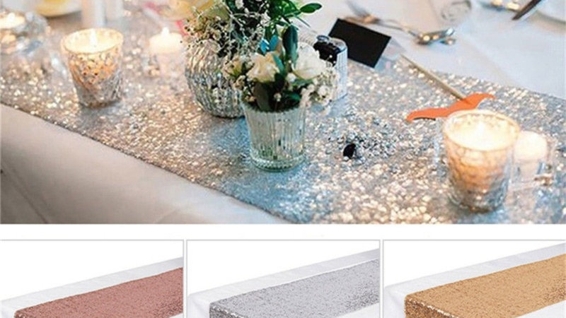 Table Decoration Sequin Table Runner