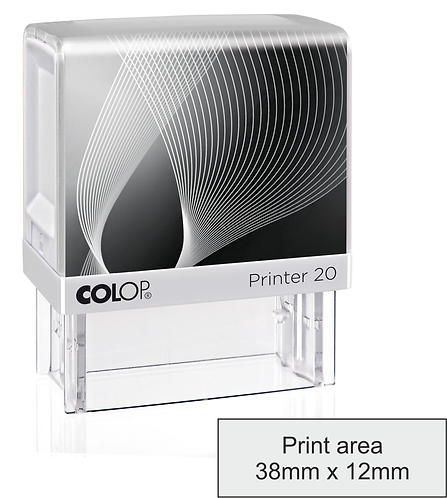 Colop Printer 20 Pigeon Wing Stamp - 13mm x 37mm