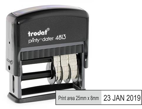 Trodat Printy Dater 4813 - 25mm x 8mm
