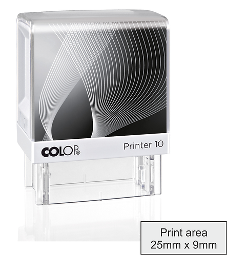 Colop Printer 10 Pigeon Wing Stamp - 10mm x 27mm