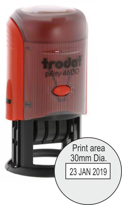 Trodat Printy Dater 46130 - 30mm Dia.