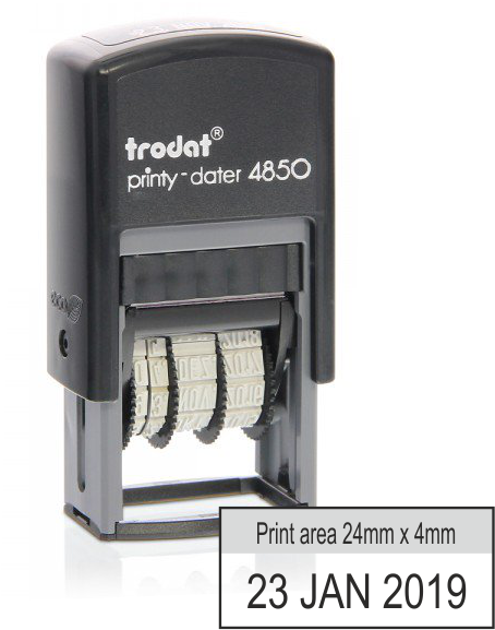 Trodat Printy Dater 4850 - 24mm x 4mm