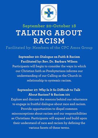 Talking About Racism Detailed Course Des