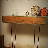 Console vintage atelier création bois