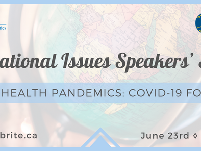 UNA-Canada & Balsillie SIA Present Global Health Pandemics: COVID-19 Forward