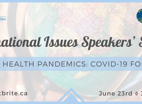 UNA-Canada & Balsillie SIA Present Global Health Pandemics: COVID-19 Forward