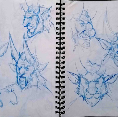 Fomor sketches 1