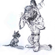 Dorthy and the Cowardly Lion