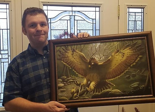 Just had my painting Thunderbird framed