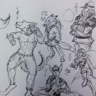 Fantasy Race Sketches