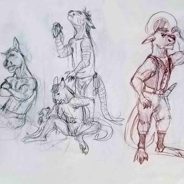 Minatultu Anatomy Sketch 3