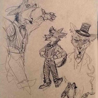 Flick Attaway character Sketches