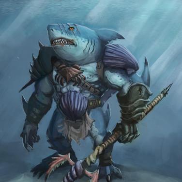 Concept Art: Shark Warlord