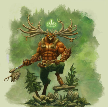 Cernunnos, the King of the Fey Woods