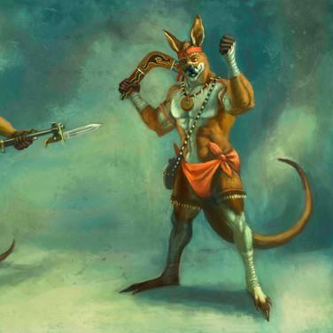 Concept Art: Minatultu (marsupial people)